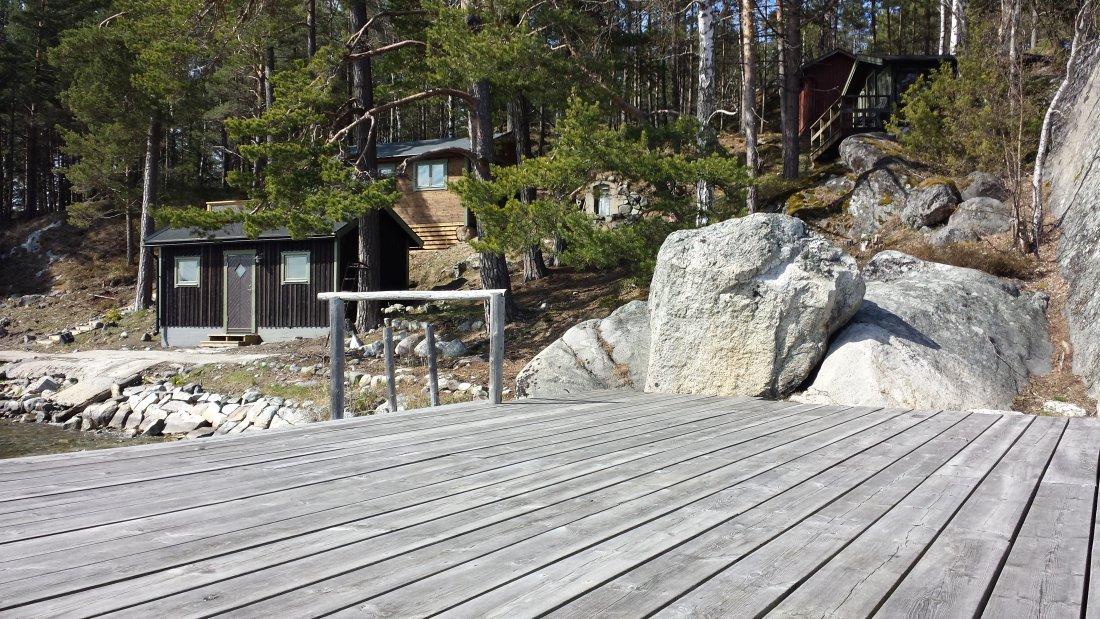 Fellenius stuga / Intill sällbasängen