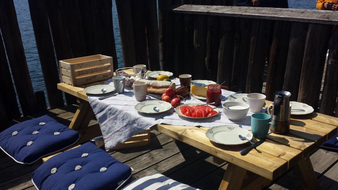 Enjoy a breakfast on the deck