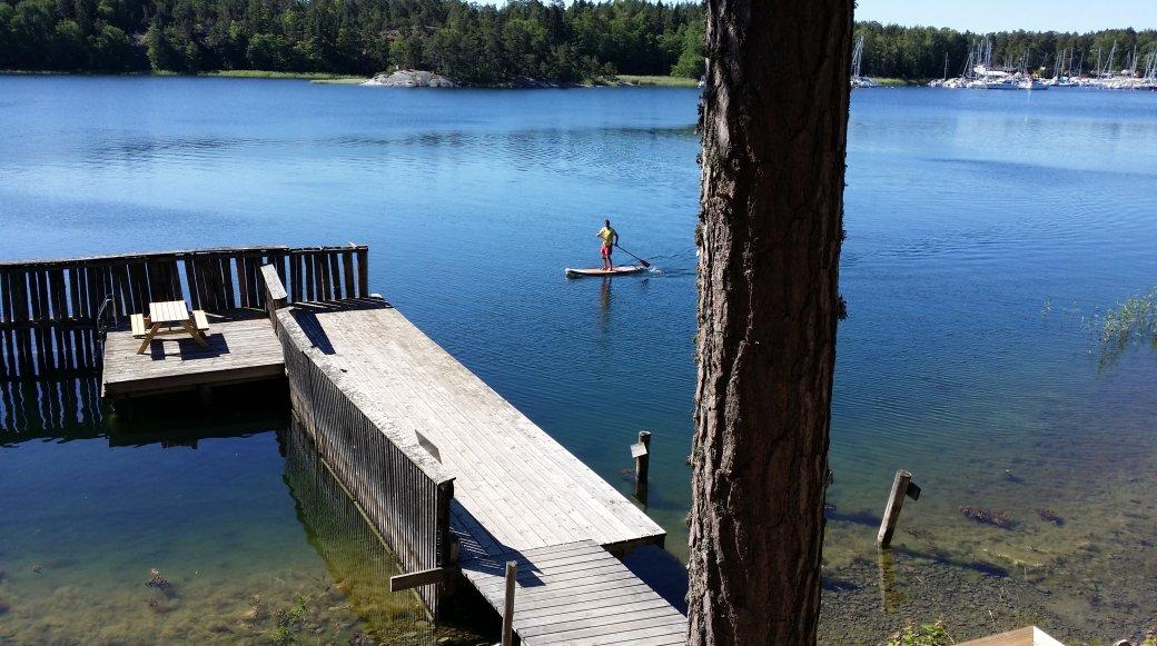 Stand up paddling på Sälstationen