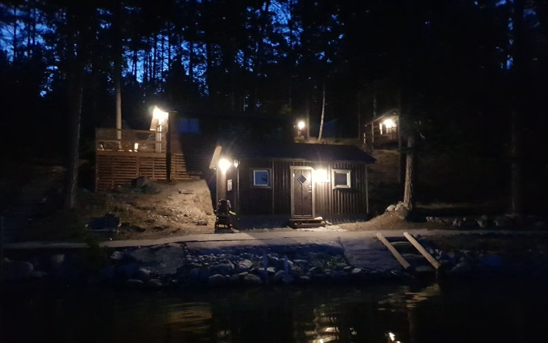Seal station by night