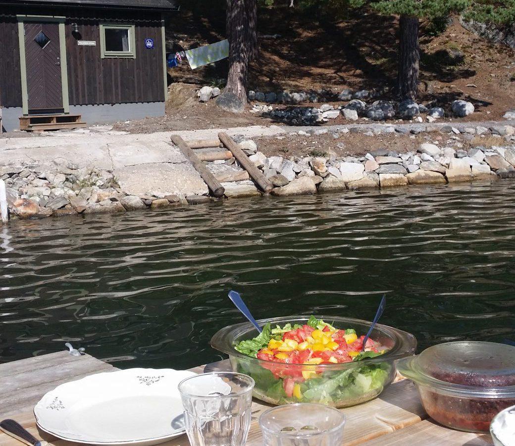Middag på bryggan