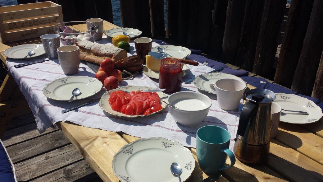 Nöjden att ta fram en rejäl frukost