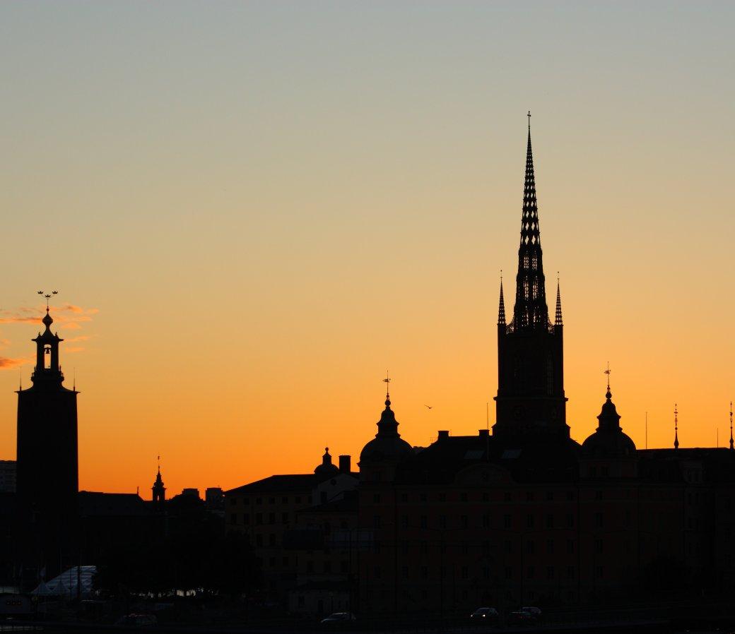 Solnedgång över Stockholm