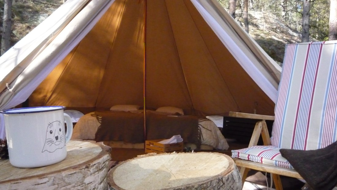 In armony with nature in Pottifar's glamping tent